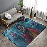 Joker Hallway Rug Joker 2019 máscara de payaso fumar cine arte moderno área alfombra para niños sala de juegos dormitorio no se desvanecerá 3 pies x 5 pies (90 x 150 cm)
