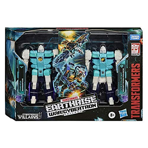 Transformers Toys Generations War for Cybertron, Earthrise Double Pack WFC-E30 Decepticon Clones Action Figures, Children Aged 8 and Up, 8.5 cm
