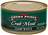 Crown Prince Lump White Crab Meat, 6-Ounce Cans (Pack of 12)
