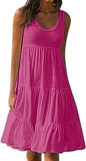 Womens Dresses Summer Casual Dress for Women Boho Mini Printed Vest Dresses Evening Party Beach Dresses