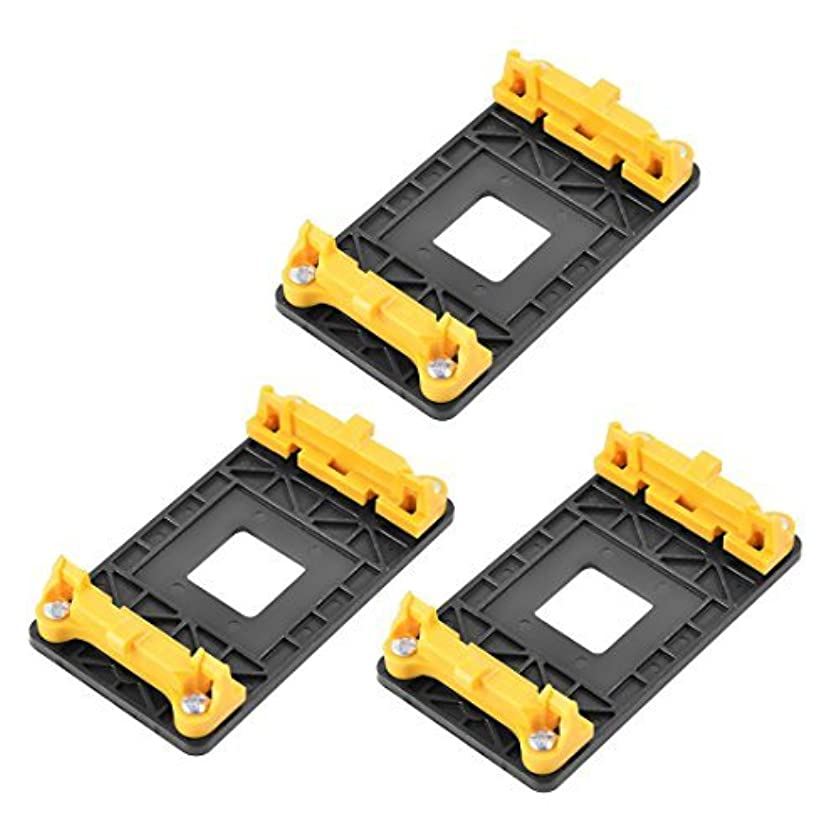 EbuyChX Plastic AMD AM2 940 Socket CPU Fan Heatsink Bracket Holder 3pcs Yellow Black