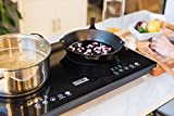 Inducto Dual Induction Cooktop Counter Top Burner, Black