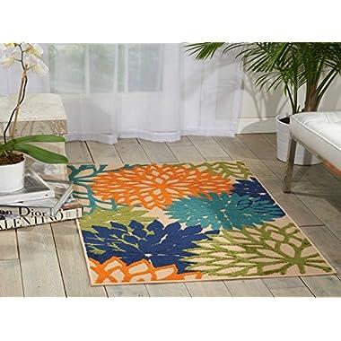 Nourison ALH05 Aloha Multicolor Contemporary Tropical Indoor/Outdoor Area Rug 2'8  x 4'