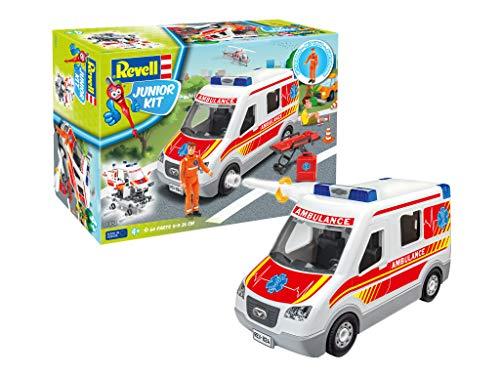 Revell- Ambulance Car Juguetes de construcción, Color Blanco (00824)