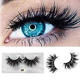 Clothful False Eyelash 25mm 3D Mink Dramatic Makeup with Long Eyelash False Eyelashes Eyelashes