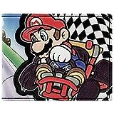 Super Mario Kart Racing Bandiera a scacchi Nero Portafoglio