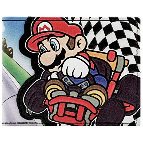 Cartera de Super Mario Kart Racing Bandera a cuadros Negro