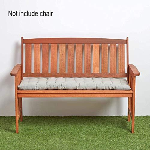 YINN - Cojín para asiento de banco de interior y exterior, 8 cm de grosor, acolchado de algodón de 8 cm de grosor, cojín largo, 2 columpios de 3 plazas