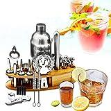 Juego para Hacer Cócteles24Pcs 25oz Bartender Cocktail Shaker Set Mezclador Home Bar Tool Kit + Basepara Herramientas De Barra