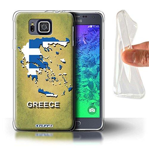 Carcasa/Funda STUFF4 TPU/Gel para el Samsung Galaxy Alpha / serie: Naciones bandera - GRECIA/griego