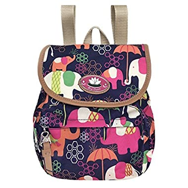 Lily Bloom Mini Backpack Colorful, Eco Friendly (Elephant Rain)