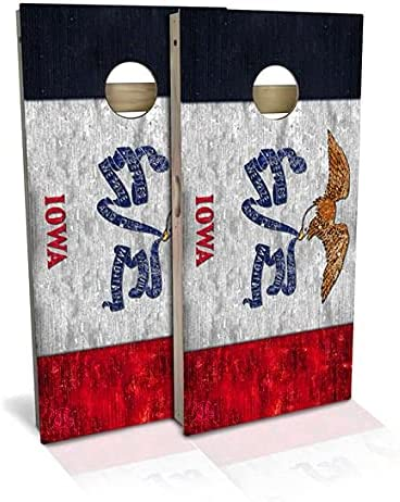 Rustic State Flag 4 by 5 ☆ very popular 2 Regulation Today's only Cornhole Size Boards feet Se