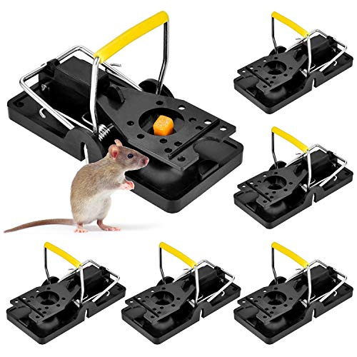 Werpower Piège à Souris, 6 Pièces Tapette à Rat Reutilisable, Piege a Rat Faciles à Utiliser, Protection du Jardin Contre Les rongeurs pour Intérieur Cuisine Maison