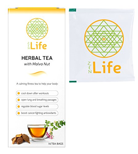 ZenLife Premium Organic Green Tea Blend - Infused with Malva Nut & Japanese Honeysuckle - Mint Flavored | 16 Pack