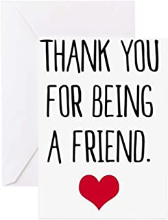 CafePress Golden Girls Thank You For Being A Friend With R Greeting Card, Note Card, Birthday Card, Blank Inside Glossy