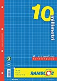 Ricambio rinforzato Rambloc Pacco da 4 Ricambi A4 10mm. (160 fogli totali)...