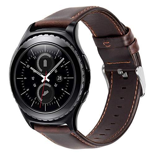 iBazal 20mm armband horlogeband leer metaal Milanese silicone compatibel Gear/Galaxy Watch, Huawei, Pebble, Garmin, Ticwatch, Fossil, Moto, Nokia heren dames horloges