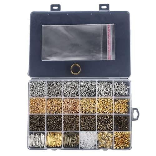 XIGAWAY 3000 unids plata oro bronce color aleación abierta anillos para DIY joyería fabricación componentes mezclados 1 caja
