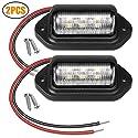 EEEKit 2 Pack LED Kennzeichenbeleuchtung 12V 6 SMD LED Lizenz Kennzeichen Lampe Wasserdicht für SUV Anhängerwagen Stufenhöflichkeitsbeleuchtung Kuppel/Ladungsbeleuchtung(Energieklasse A+)