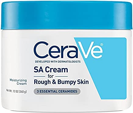 CeraVe - Renewing SA Cream - Salicylic Acid Body Moisturiser for Rough and Bumpy Skin - 340g
