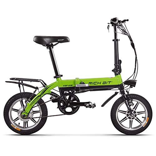 cysumRT-618 Bicicleta eléctrica plegable-2020 Bicicleta eléctrica Plegable Liviana con Ruedas de 14...