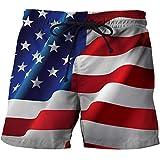 Pantalones Cortos de Playa de Verano Ropa de Playa para Hombres Pantalones Cortos Frescos con Estampado 3D Bañadores A M