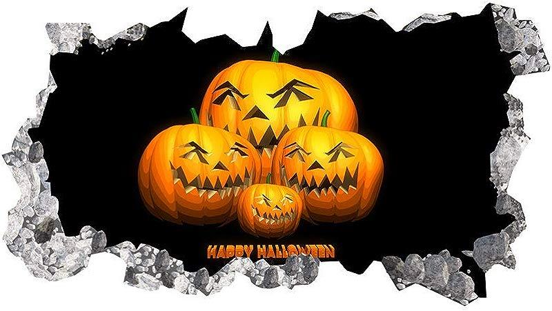 Esonbuy 2019 Lnnovative Models Funny Smirk Pumpkin Head Halloween Wall Stickers Bedroom Living Room Decoration Stickers Household Items