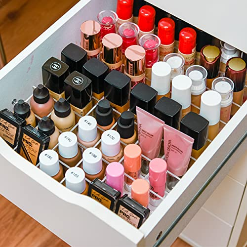 TidyUps DIVIDERS for Foundations | Juego Separador con Compartimentos para la cajonera Alex de IKEA | Organizador de cosméticos para Maquillaje en acrílico