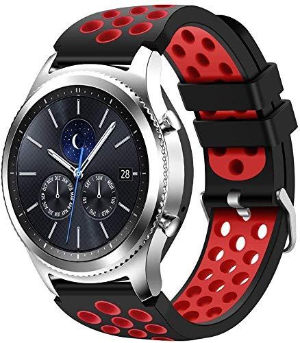 Gransho Correa de Reloj Compatible con Huawei Watch GT 2 (46mm) / Watch GT 2e / Watch GT/Watch 3 / Watch 3 Pro, Blando Silicona Narrow Delgada Deporte Reemplazo Pulsera (22mm, Pattern 8)