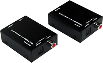 E-SDS Digital Audio Extender Digital Optical & Coaxial Over Single Cat5e/6 Cable up to 990 feet for Dolby Digital, DTS 5.1, DTS-HD and PCM