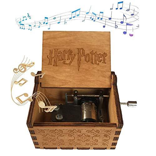 XIAOLUO Kreative handgekurbelte Spieluhraushölzernem Kunsthandwerkfür die Geburtstagsgeschenk Harry Potter