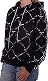 Boy London Maglia Felpina - Sudadera con capucha para mujer, color negro negro S