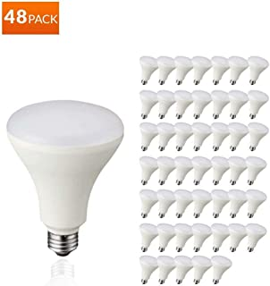 LED BR30 Dimmable Flood Bulb, 65W Replacement - 10 Watt - 650 Lumens - 2700K Soft White - Indoor/Outdoor Rated - UL & Energy Star,Or Energy Star LED Downlight on Amazon. UL Listed (2700K - 48 Pack)