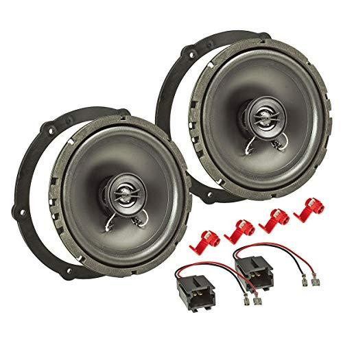tomzz Audio 4008-000 Lautsprecher Einbau-Set passend für Citroen C1 C4 Jumpy Peugeot 107 Toyota Aygo 165mm Koaxial System TA16.5-Pro