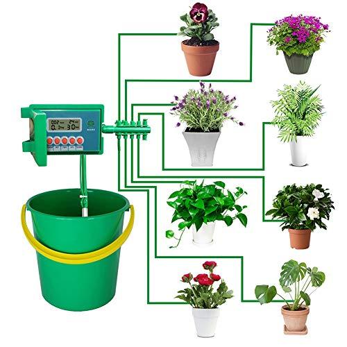 WKZWY-furniture cover Automatische Micro Home Tropfbewässerungs-Bewässerungs-Kits, System-Sprinkler mit Smart Controller (Color : Green)