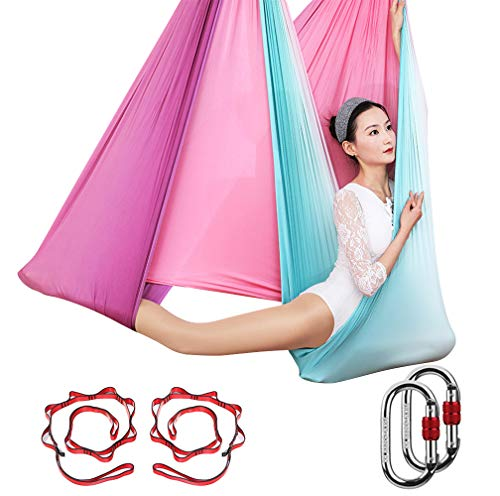 Sale!! KIKIGOAL Aerial Yoga Hammock Premium Aerial Silk Yoga Swing Antigravity Yoga Inversion Exerci...