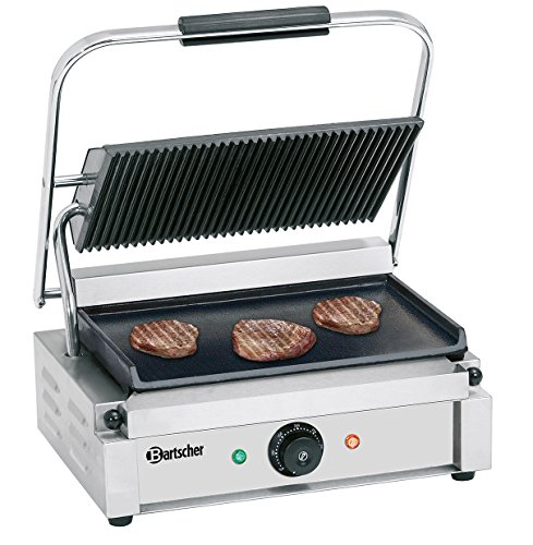 Bartscher contactgrill Panini gegroefd/glad 84198180 Art. A150676