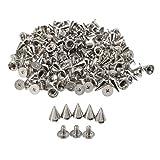 BE-Tool Nieten mit Schraubverschluss, silberfarben, 100 Stück, schwarz