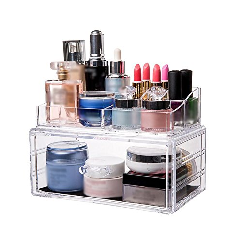 CJC Make-Up Taschen Etuis Lager Box Transparent Acryl Desktop Lager Box Dressing Schreibtisch Lippenstift Schutz Haut Produkt Lager Aussortieren Box ( Farbe : T1 )