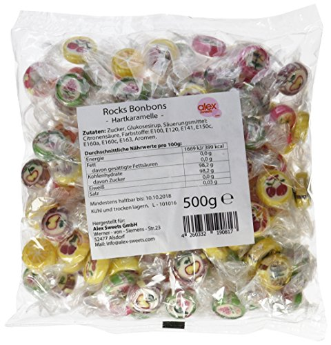 Sweet Flash Rocks Bonbons, 1er Pack (1 x 500 g)