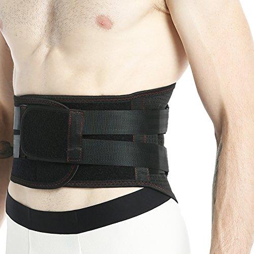 Faja lumbar Neotech Care - Accesorio transpirable y ajustable para el dolor en la parte baja de la espalda - Doble entramado de compresión - Protección para el levantamiento de pesos - Negro - S