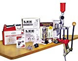 This kit and a set of Lee dies is everything you need to begin reloading Note: the Bench Plate system the Classic Turret Press is mounted to in the photo is sold separately. Made in USA The kit includes the Pro Auto-Drum powder measure and riser, per...