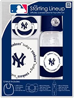 MLB Baby Fanatic Bib, Bottle & Pacifier Gift Set