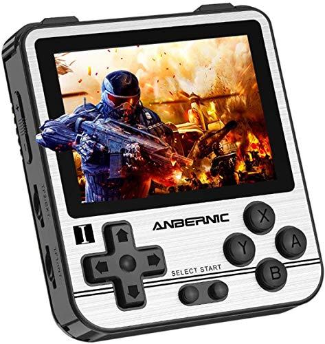 Anbernic RG280V Consoles de Jeux Portables , Console de Jeux Retro Open Source System , 2.8 Pouces IPS écran Free with 64G TF Card Built-in 5000 Jeux (Silver)
