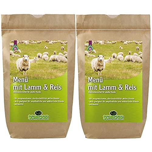 Schecker Dogreform Agneau et riz 2 x 12 kg Croquettes pour chiens sans blé Convient pour les chiens sensibles et difficiles