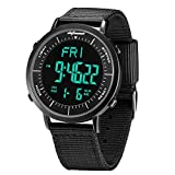 Digital Sports Watch, shifenmei Military Cool Waterproof Mens Digital Watch Alarm Stopwatch Countdown Date Wrist Watches with Large Face Led Backlight for Men Women Kids Unisex (A-Black)