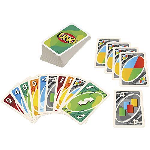 Mattel Games GTH23 - 100% Papier Kartenspiel für die ganze Familie mit 112Karten, Spieleabend mit der Familie, für Spieler ab 7Jahren