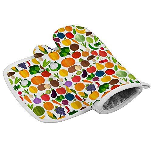 N/A Isolatie handschoenen Watermeloen, Maïs en andere vruchten en groenten Professionele hittebestendige Oven Manten, Inclusief geïsoleerde handschoenen en geïsoleerde vierkante pads