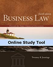 CourseMate (with Business Law Digital Video Library) for Twomey/Jennings' Business Law: Principles for Today's Commercial Environment, 4th Edition
