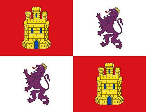 Grand Bandera de Castilla y Leon 150*90 cm Satén Durabol .